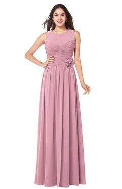 ColsBM Carla Rosebloom Romantic Jewel Zipper Chiffon Pleated Plus Size Bridesmaid Dresses