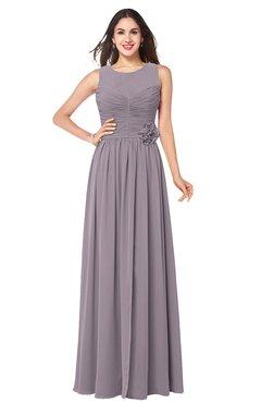 ColsBM Carla Sea Fog Romantic Jewel Zipper Chiffon Pleated Plus Size Bridesmaid Dresses