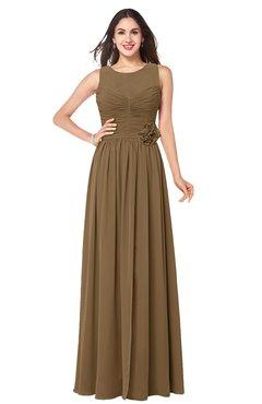 ColsBM Carla Truffle Romantic Jewel Zipper Chiffon Pleated Plus Size Bridesmaid Dresses
