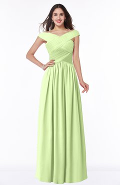 ColsBM Wendy Butterfly Classic A-line Off-the-Shoulder Sleeveless Zip up Floor Length Plus Size Bridesmaid Dresses