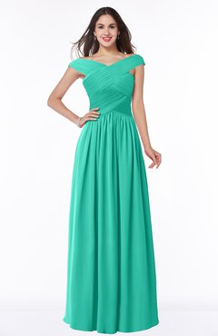 ColsBM Wendy Ceramic Classic A-line Off-the-Shoulder Sleeveless Zip up Floor Length Plus Size Bridesmaid Dresses