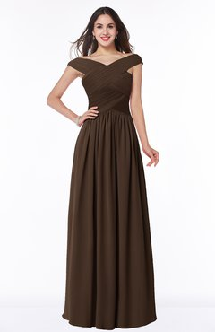 ColsBM Wendy Copper Classic A-line Off-the-Shoulder Sleeveless Zip up Floor Length Plus Size Bridesmaid Dresses