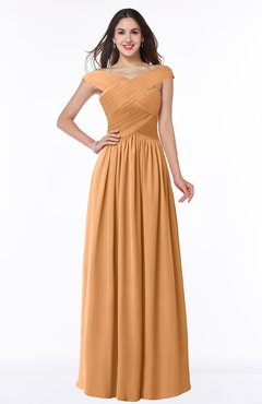ColsBM Wendy Pheasant Classic A-line Off-the-Shoulder Sleeveless Zip up Floor Length Plus Size Bridesmaid Dresses