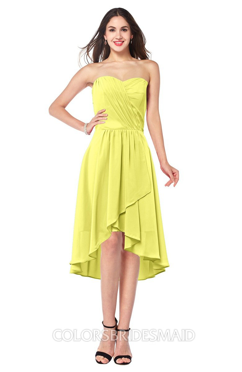 Pale yellow elegant a line strapless sleeveless ruching plus size elegant a line strapless sleeveless ruching plus size bridesmaid dresses ombrellifo Gallery