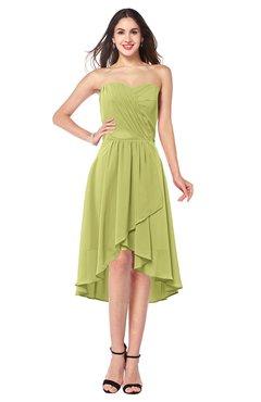ColsBM Karina Pistachio Elegant A-line Strapless Sleeveless Ruching Plus Size Bridesmaid Dresses