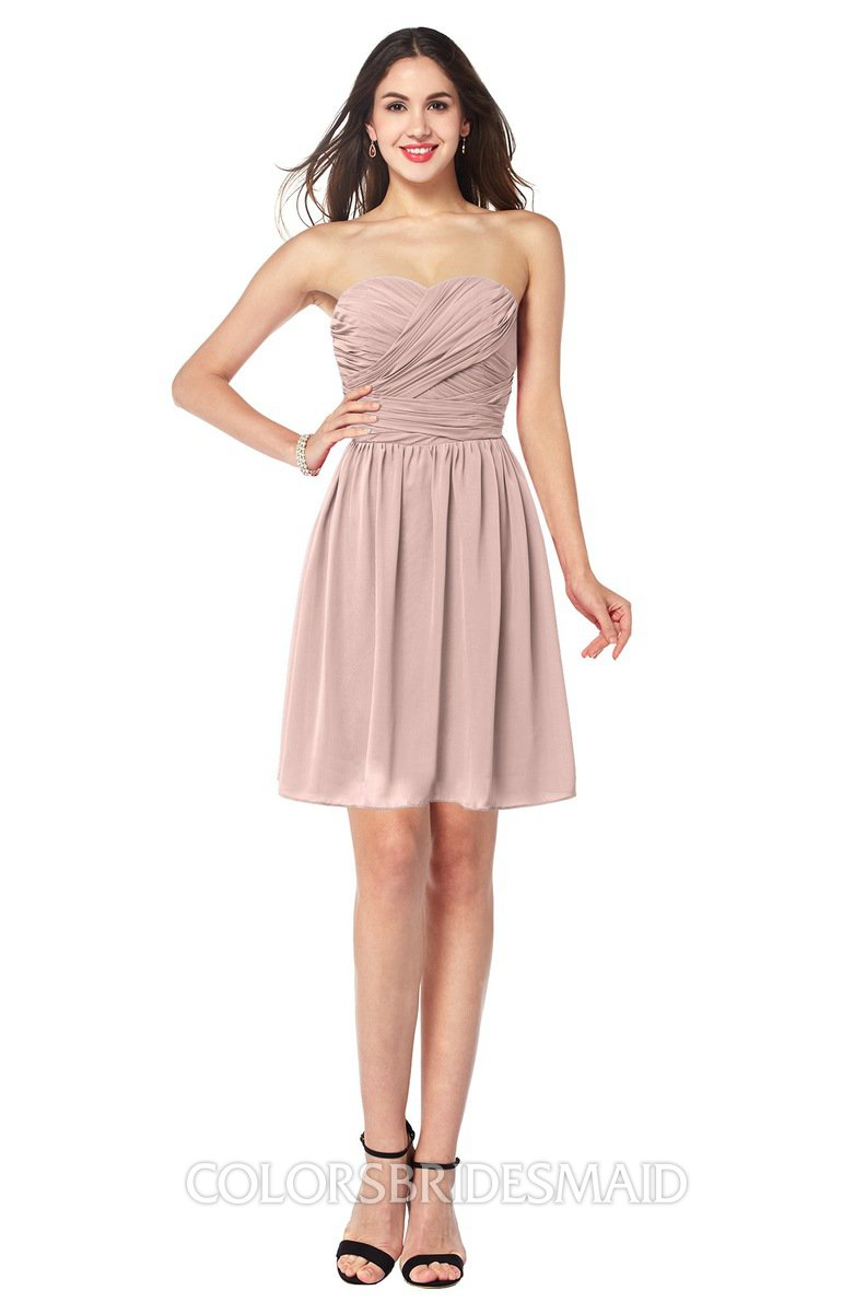 31049b769e4 ColsBM Gabriela Dusty Rose Sexy Sweetheart Sleeveless Short Ribbon Plus  Size Bridesmaid Dresses
