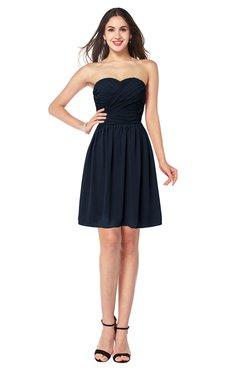 ColsBM Gabriela Navy Blue Sexy Sweetheart Sleeveless Short Ribbon Plus Size Bridesmaid Dresses