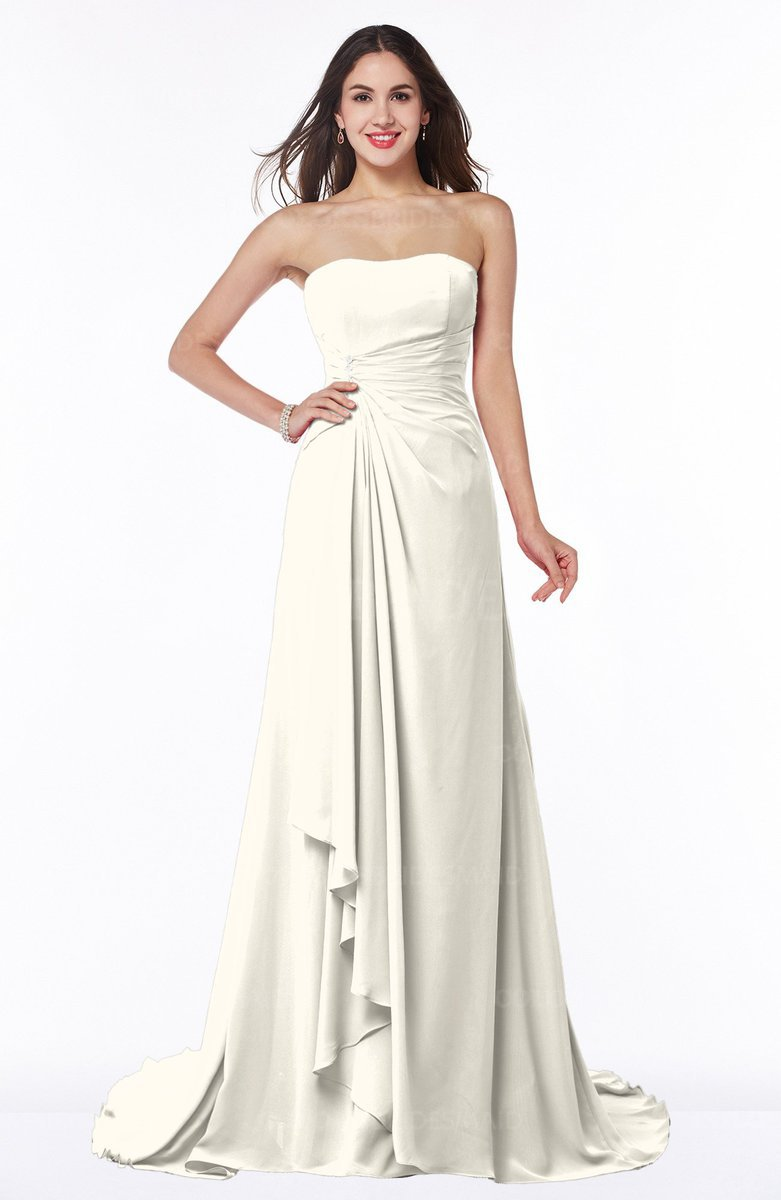 3686f3a3f27 Strapless Bridesmaid Dress With Train