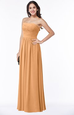ColsBM Summer Pheasant Simple Strapless Sleeveless Zipper Floor Length Ruching Plus Size Bridesmaid Dresses