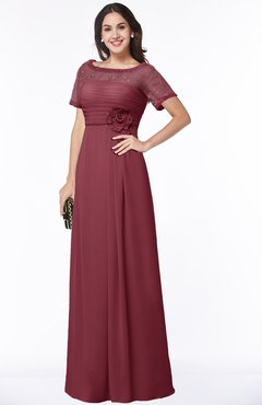 Plus Size Bridesmaid Dresses Wine color, Free Custom Plus ...