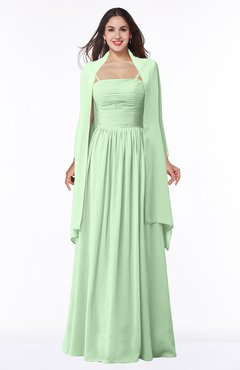 f1d3445532e0 ColsBM Elyse Light Green Traditional A-line Sleeveless Zip up Chiffon Floor  Length Mother of