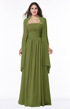 01eda47186aa7a ColsBM Elyse Olive Green Traditional A-line Sleeveless Zip up Chiffon Floor  Length Mother of