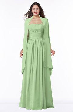 9d87f526ae7 ColsBM Elyse Sage Green Traditional A-line Sleeveless Zip up Chiffon Floor  Length Mother of