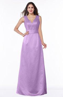 ColsBM Faye Begonia Luxury A-line V-neck Sleeveless Satin Sash Wedding Guest Dresses