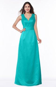 ColsBM Faye Ceramic Luxury A-line V-neck Sleeveless Satin Sash Wedding Guest Dresses
