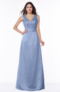 ColsBM Faye Freesia Luxury A-line V-neck Sleeveless Satin Sash Wedding Guest Dresses