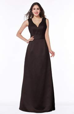 ColsBM Faye Java Luxury A-line V-neck Sleeveless Satin Sash Wedding Guest Dresses