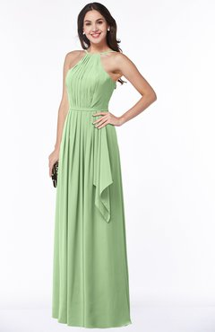 ColsBM Jasmine Gleam Sexy Halter Sleeveless Zipper Chiffon Ruching Plus Size Bridesmaid Dresses