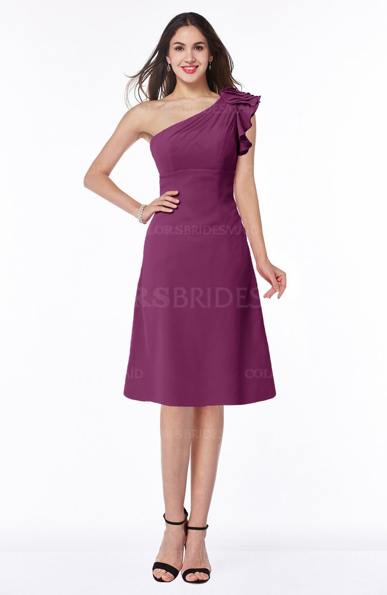 6a4cd43f257 ColsBM Chana Raspberry Simple Asymmetric Neckline Sleeveless Chiffon  Ruffles Bridesmaid Dresses