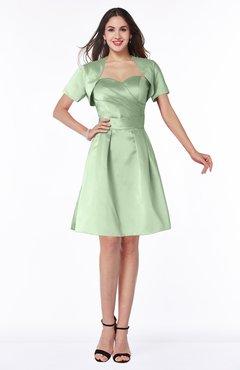 ColsBM Paloma Seacrest Modest Short Sleeve Zip up Satin Knee Length Pleated Mother of the Bride Dresses