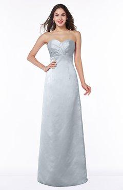 ColsBM Hilary Silver Modest Strapless Sleeveless Criss-cross Straps Floor Length Evening Dresses