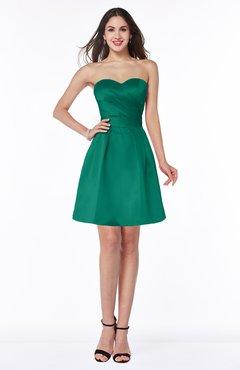 ColsBM Prudence Mint Classic A-line Half Backless Knee Length Ruching Little Black Dresses