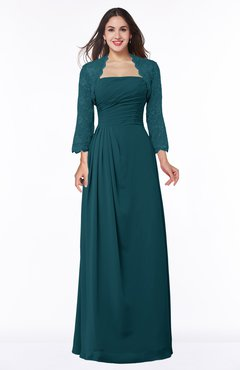 ColsBM Camila Blue Green Modest Strapless Zip up Floor Length Lace Mother of the Bride Dresses
