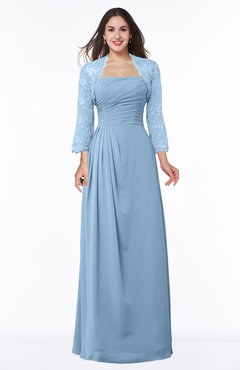 ColsBM Camila Dusty Blue Modest Strapless Zip up Floor Length Lace Mother of the Bride Dresses