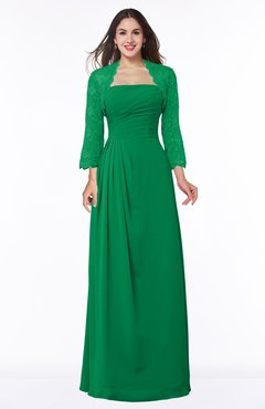 ColsBM Camila Green Modest Strapless Zip up Floor Length Lace Mother of the Bride Dresses