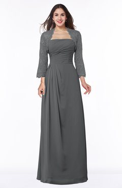 ColsBM Camila Grey Modest Strapless Zip up Floor Length Lace Mother of the Bride Dresses