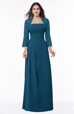 ColsBM Camila Moroccan Blue Modest Strapless Zip up Floor Length Lace Mother of the Bride Dresses