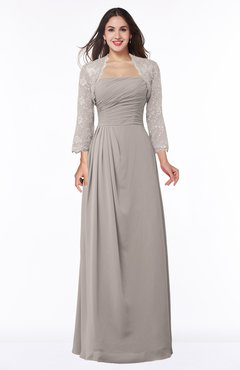 ColsBM Camila Mushroom Modest Strapless Zip up Floor Length Lace Mother of the Bride Dresses