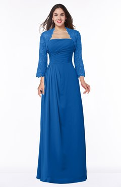 ColsBM Camila Royal Blue Modest Strapless Zip up Floor Length Lace Mother of the Bride Dresses