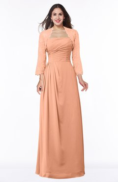 ColsBM Camila Salmon Modest Strapless Zip up Floor Length Lace Mother of the Bride Dresses