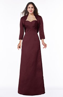 ColsBM Erica Burgundy Traditional Criss-cross Straps Satin Floor Length Pick up Mother of the Bride Dresses