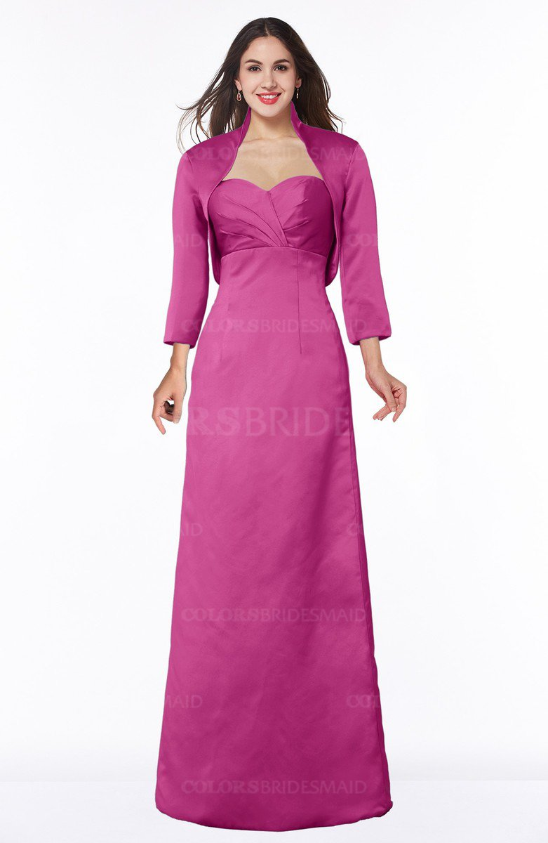 07fb15f914 ColsBM Erica Hot Pink Traditional Criss-cross Straps Satin Floor Length  Pick up Mother of