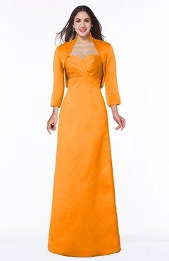 ColsBM Erica Orange Traditional Criss-cross Straps Satin Floor Length Pick up Mother of the Bride Dresses