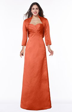 ColsBM Erica Persimmon Traditional Criss-cross Straps Satin Floor Length Pick up Mother of the Bride Dresses