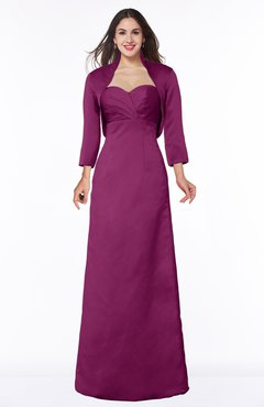 ColsBM Erica Raspberry Traditional Criss-cross Straps Satin Floor Length Pick up Mother of the Bride Dresses