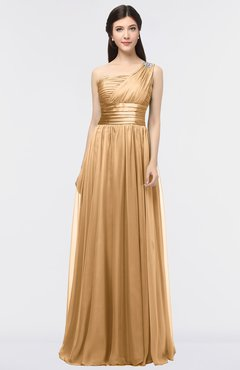 ColsBM Lyra Doe Mature Asymmetric Neckline Zip up Floor Length Appliques Bridesmaid Dresses