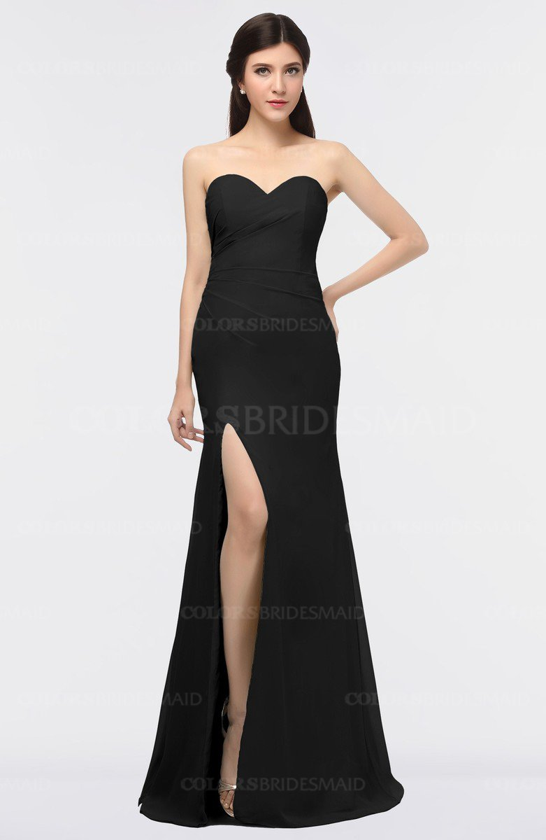 88643c542d ColsBM Claudia Black Mature Sheath Strapless Sleeveless Floor Length Ruching  Bridesmaid Dresses