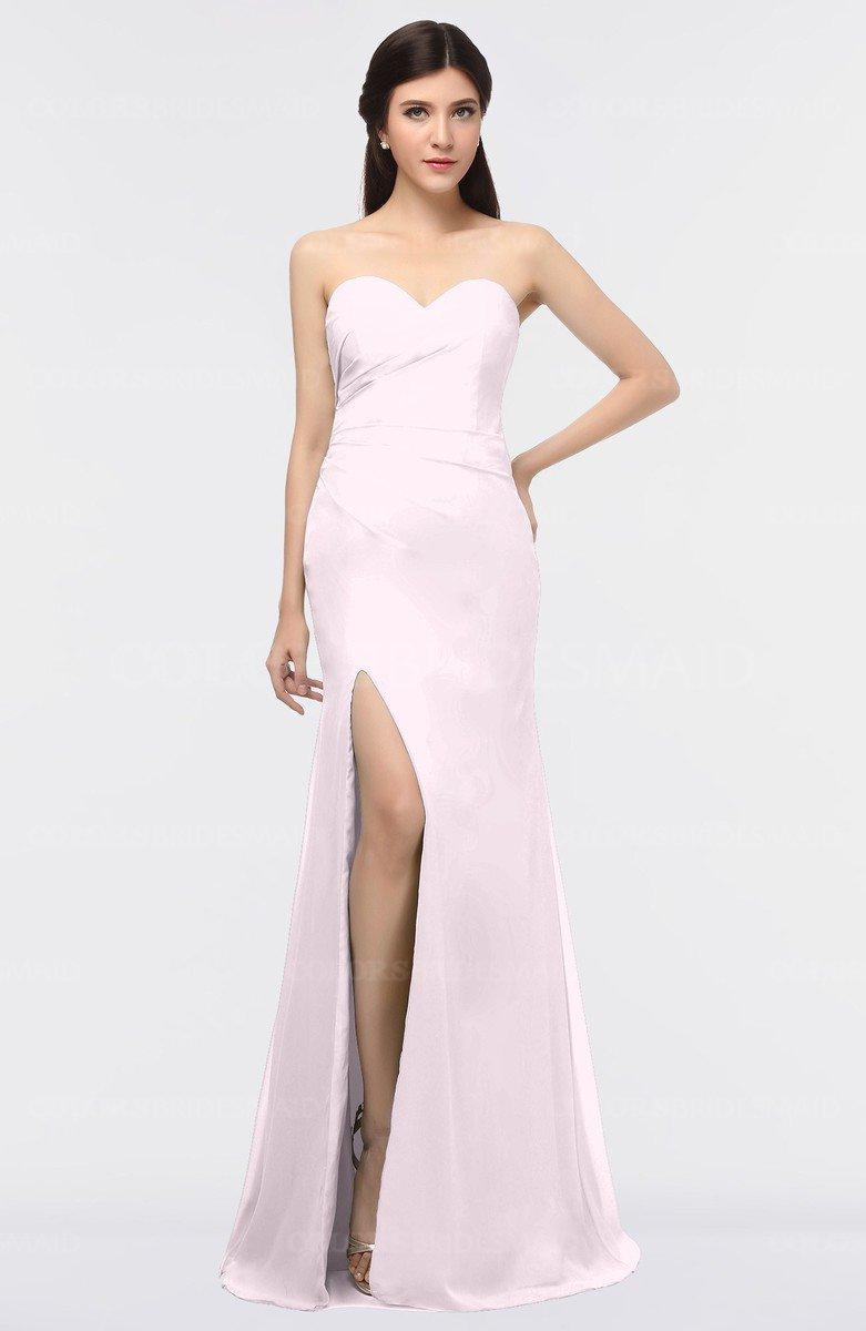 035cb34106d5 ColsBM Claudia Blush Mature Sheath Strapless Sleeveless Floor Length  Ruching Bridesmaid Dresses