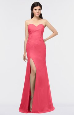 ColsBM Claudia Guava Mature Sheath Strapless Sleeveless Floor Length Ruching Bridesmaid Dresses