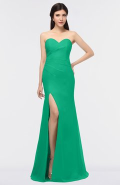 fdfd11e44f015 ColsBM Claudia Sea Green Mature Sheath Strapless Sleeveless Floor Length  Ruching Bridesmaid Dresses