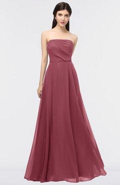 ColsBM Marlee Wine Modest A-line Sleeveless Zip up Floor Length Plainness Bridesmaid Dresses