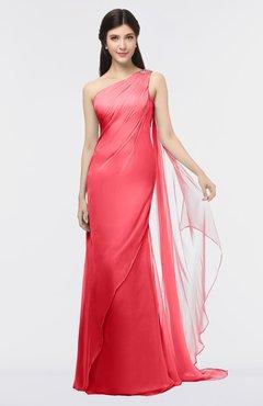 1748556a93 ColsBM Helena Coral Elegant Asymmetric Neckline Sleeveless Zip up Floor  Length Bridesmaid Dresses