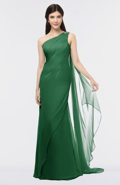 ColsBM Helena Eden Elegant Asymmetric Neckline Sleeveless Zip up Floor Length Bridesmaid Dresses