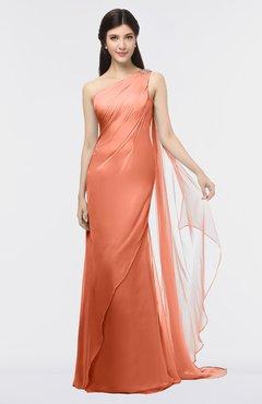 ColsBM Helena Flamingo Elegant Asymmetric Neckline Sleeveless Zip up Floor Length Bridesmaid Dresses