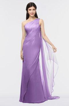ColsBM Helena Hyacinth Elegant Asymmetric Neckline Sleeveless Zip up Floor Length Bridesmaid Dresses