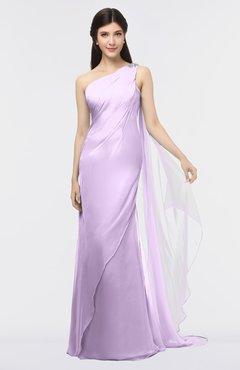 ColsBM Helena Lavendula Elegant Asymmetric Neckline Sleeveless Zip up Floor Length Bridesmaid Dresses
